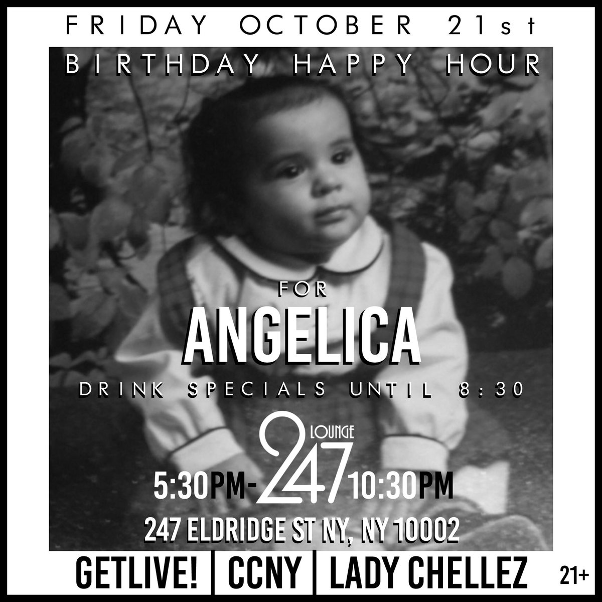 Next Friday 10/21, come out to Lounge 247 at 5:30pm to celebrate w/ me with a happy hour birthday fiesta https://t.co/ZizymC1xia