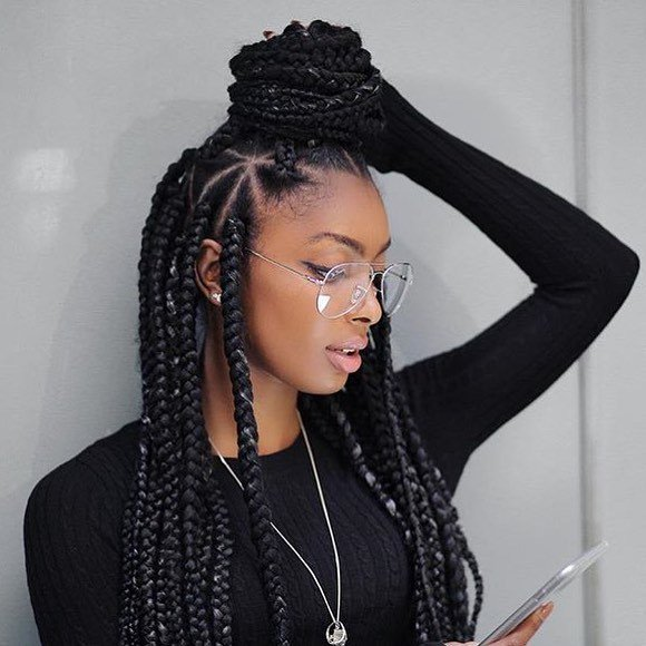 "Voice of Hair on Twitter: ""These triangle box braids are"