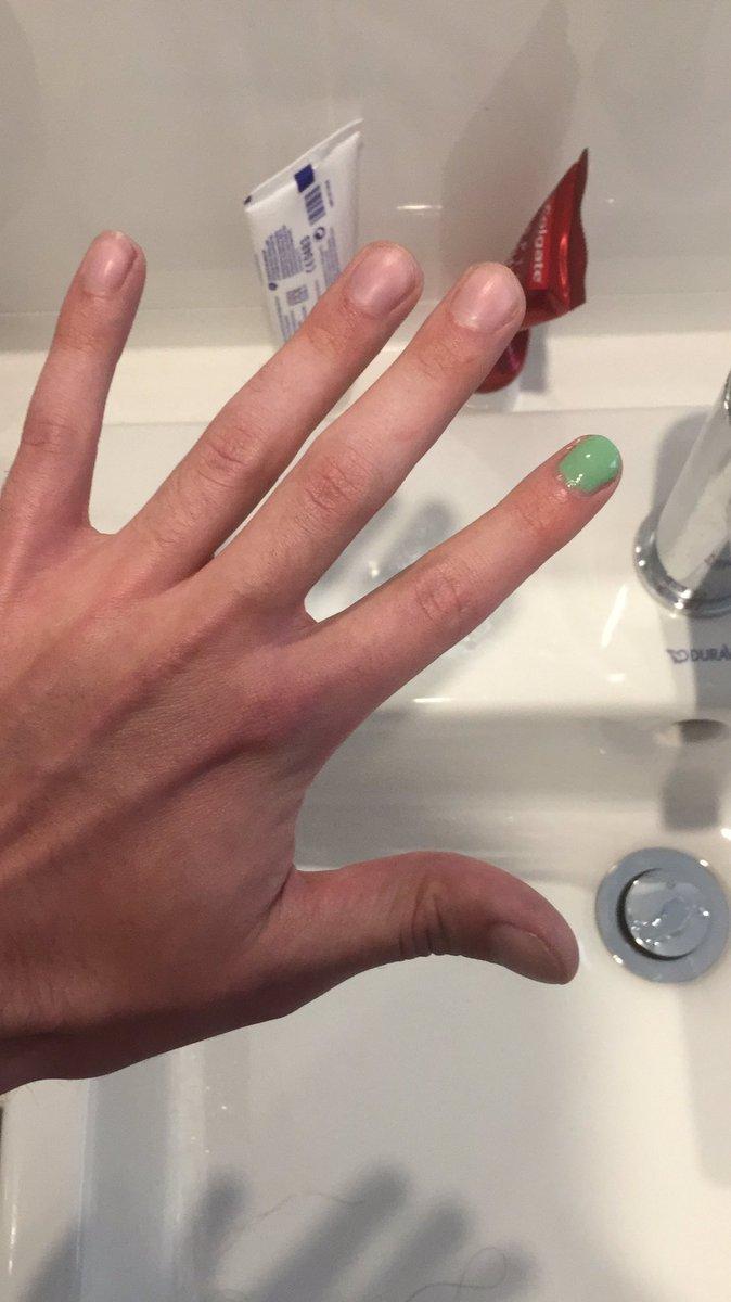 Man single painted nail