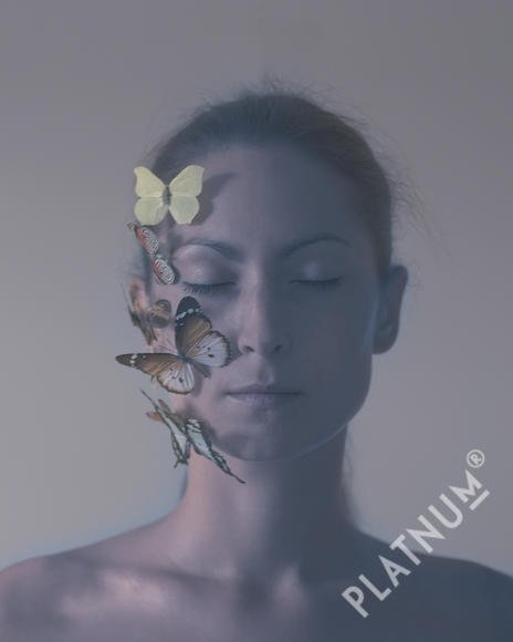 Horse and I by Marina Weigl #platnum #marinaweigl #art #fineart #color #portrait #portraitphotography #butterfly #nature #woman #horseandi