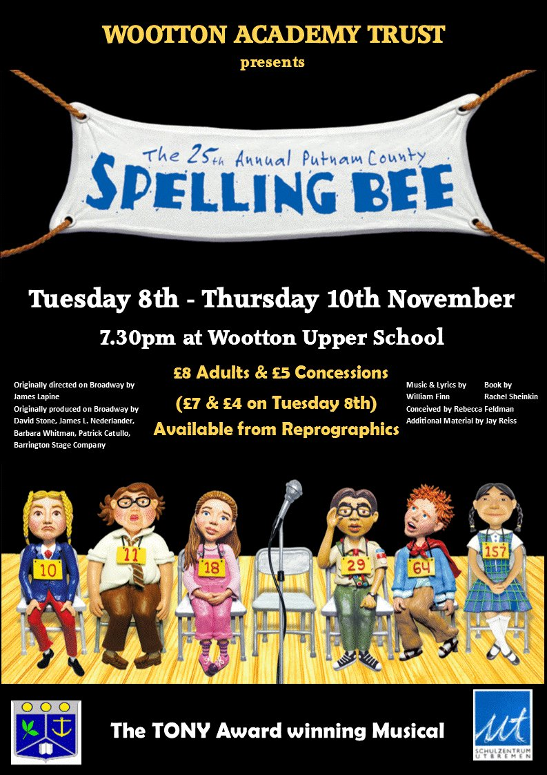 Remember to get your tickets for The 25th Annual Putnam County Spelling Bee - a sensational musical comedy.