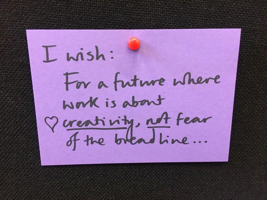 Here's a wish for you. More to follow. #workischanging https://t.co/EdYxcqu3YO
