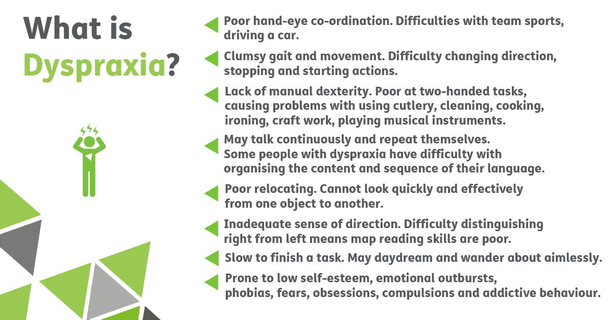 Great little image from @EnhamTrust with a description of dyspraxia simply more than being clumsy! #DyspraxiaWeek https://t.co/gzkxaJbeAv