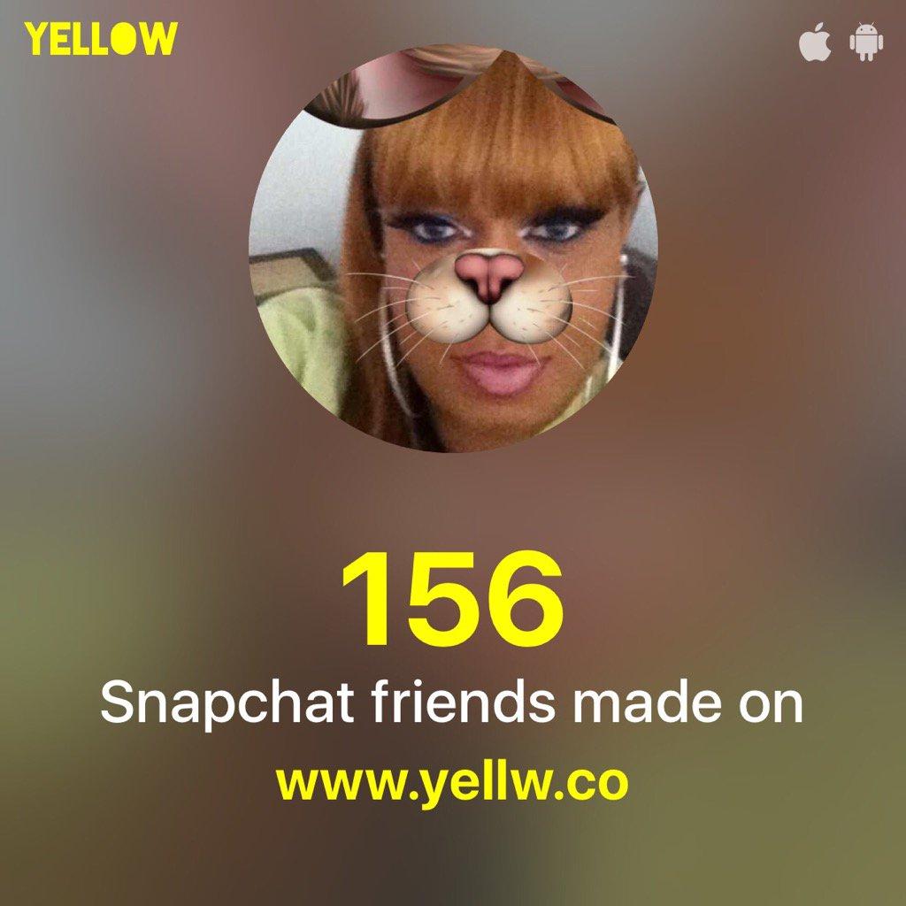 Thanks @yellwapp 😍😍 I made 156 new friends on Snapchat: http://yellw.co #MakeFriendsOnSnapchat