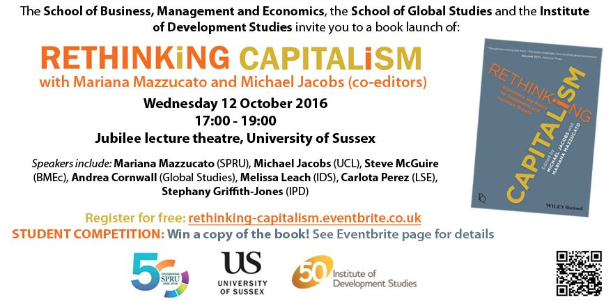 TONIGHT: #RethinkingCapitalism with @MazzucatoM, @michaelujacobs & more. 5-7pm + drinks! Get your free ticket now! https://t.co/wnZSXPEhxD https://t.co/PrtKa9OOYQ