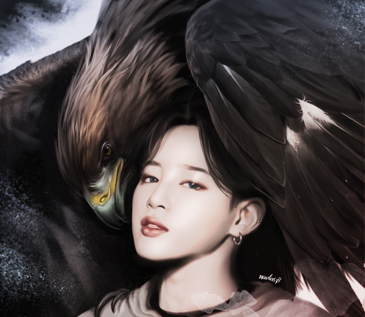 Golden eagle & JIMIN 22th birthday...