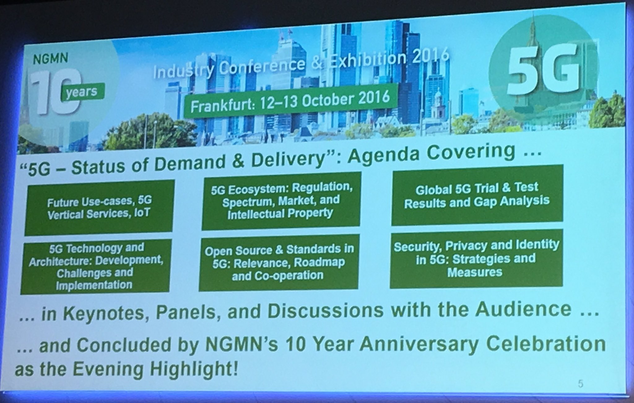 @ngmn industry conference in Frankfurt https://t.co/UHts4g04rA