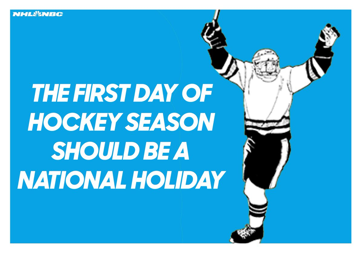 Image result for start of nhl season should be a national holiday