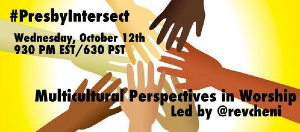 Don't miss out! #PresbyIntersect is TONIGHT at 9:30 PM EST with @RevCheni #PCUSA #worship https://t.co/vZPZ10MCk2