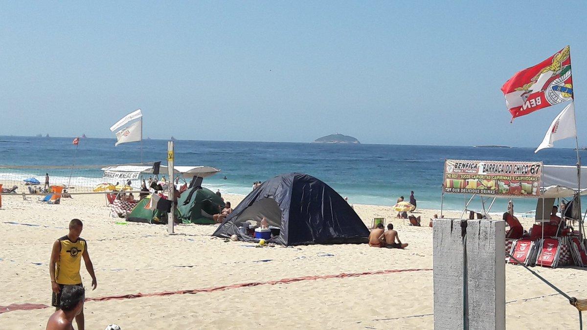Resultado de imagem para acampamento rj ipanema