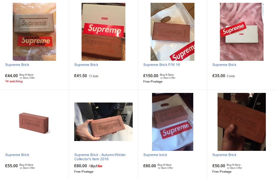Dan Barker On Twitter Going Price For A Supreme Brick Seems To Be About GBP50 Average House 5226 Bricks GBP261300