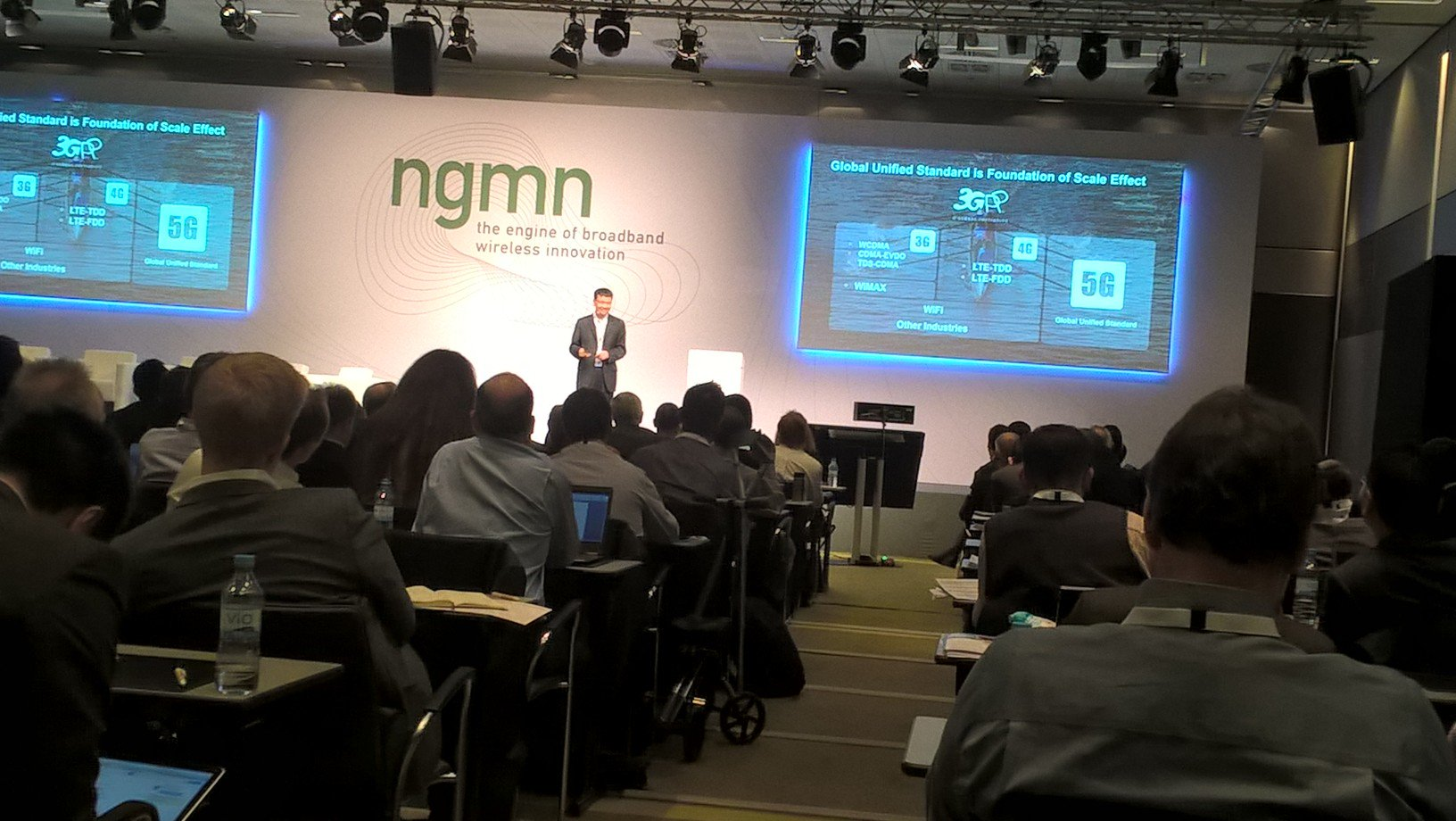 Yang Chaobin, Huawei, calls for a Global Unified Standard for 5G - from 3GPP - at #NGMN_ICE2016 https://t.co/oCeakoqPVy