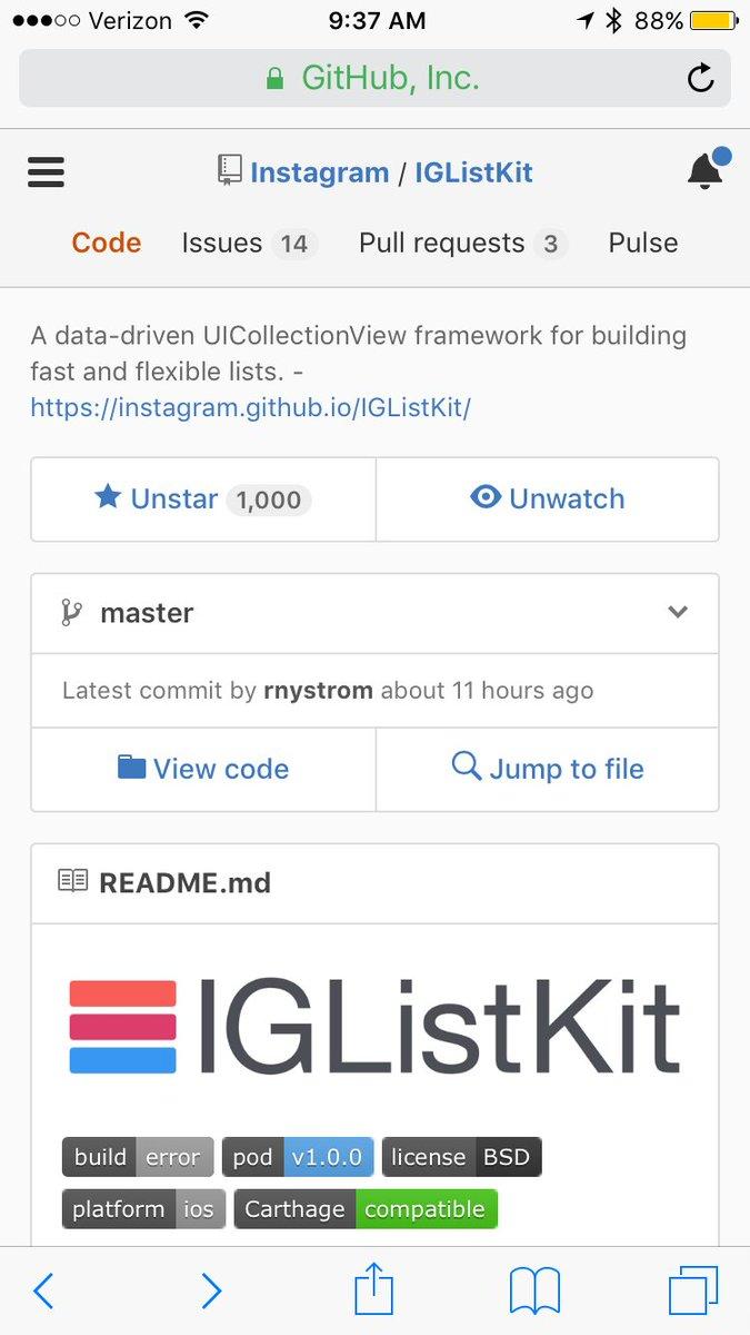 Hashtag #iglistkit sur Twitter