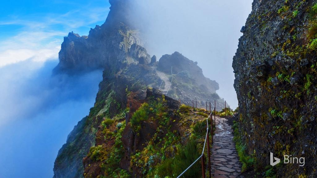 """Bing On Twitter: """"A Mountain Trail In Madeira, Portugal"""