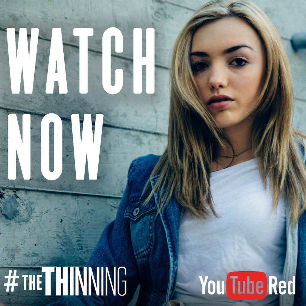 it's finally here! #thethinning is out on @youtube red today! just