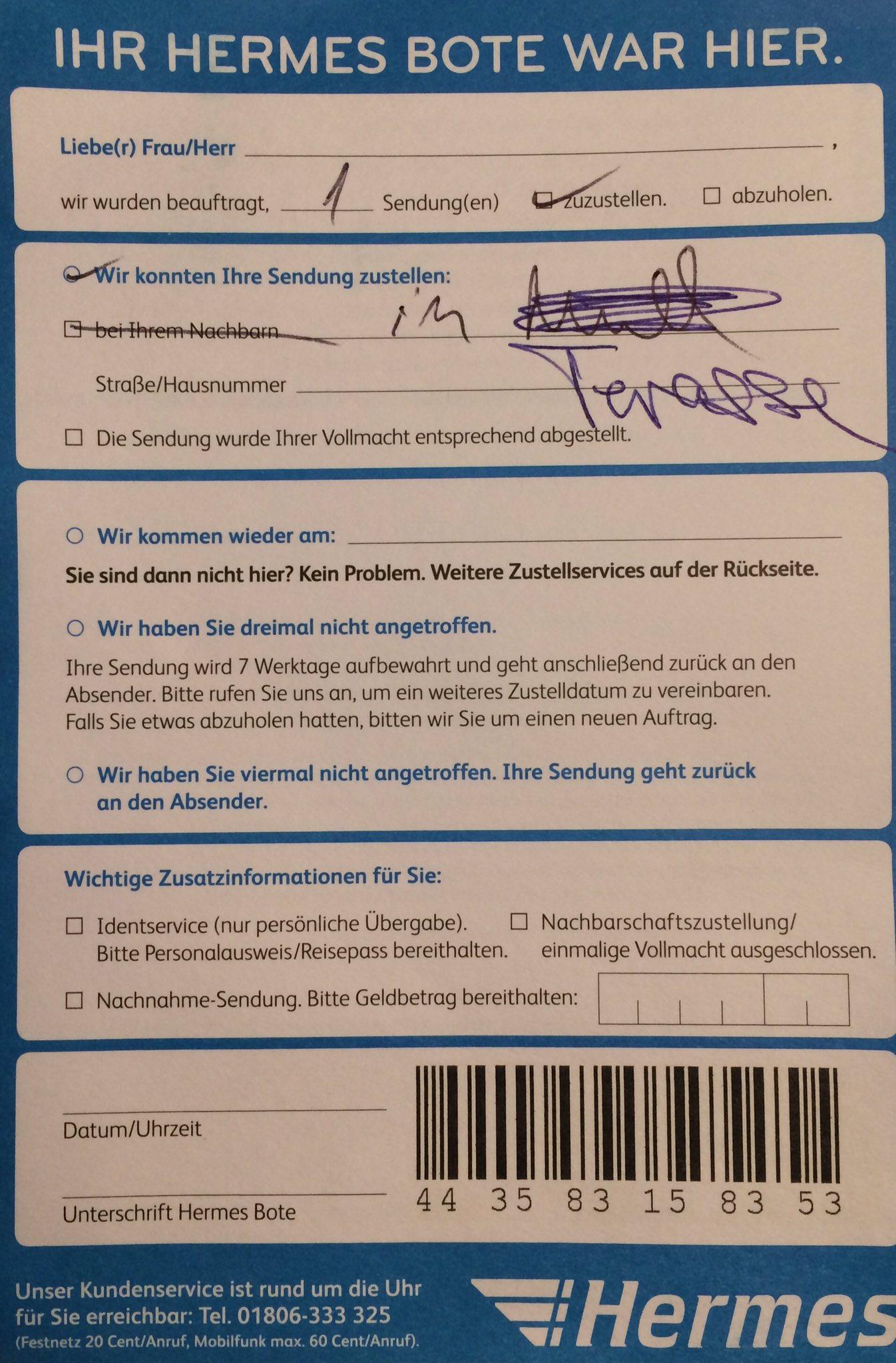 Wie muss ich mir das vorstellen? Pakete werden in den Müll geworfen? @hermesDE #wahnsinn #müll #hermes #paket https://t.co/nPf4mXh2qE