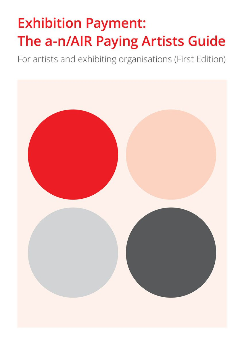 The Exhibition Payment Guidance has been launched! Read it here: https://t.co/dnsbMclphO #PayingArtists https://t.co/XfGMqlOl5i