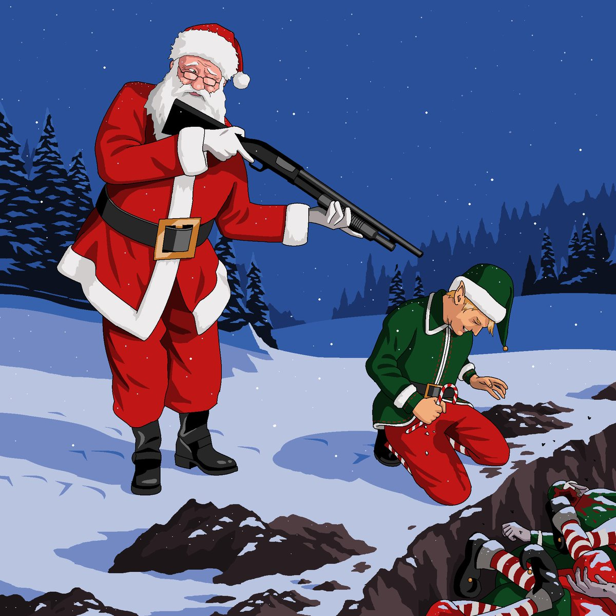 It Christmas.Jim Ll Paint It On Twitter Father Christmas Reluctantly