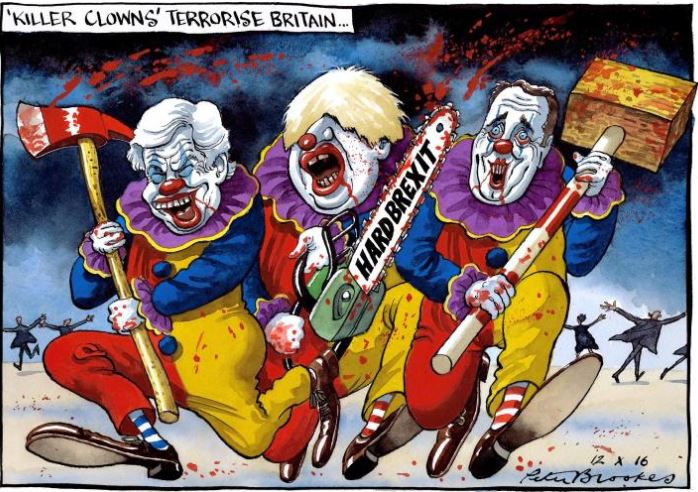 Killer Clowns terrorize Britain #Brexit @thetimes https://t.co/zUwG4egMDF