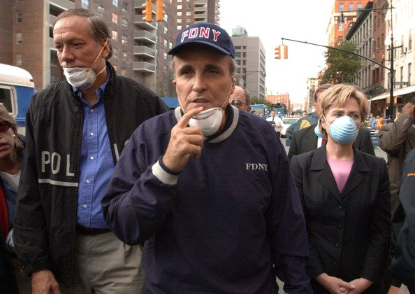 Giuliani says he didn't see Hillary at Ground Zero. Here are photos of them there together: https://t.co/RKC7FV1wRG https://t.co/XaDkWwml42