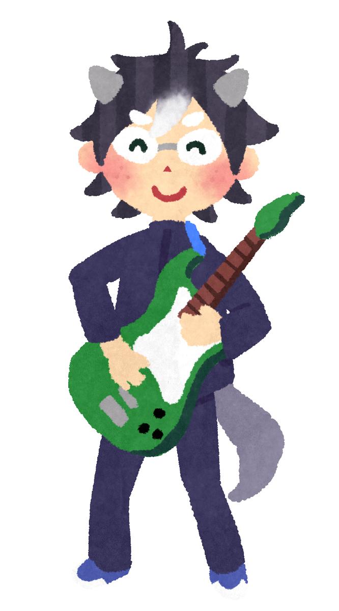 ベースを弾く童貞の男の子のイラストです https://t.co/GWb35WHZXw