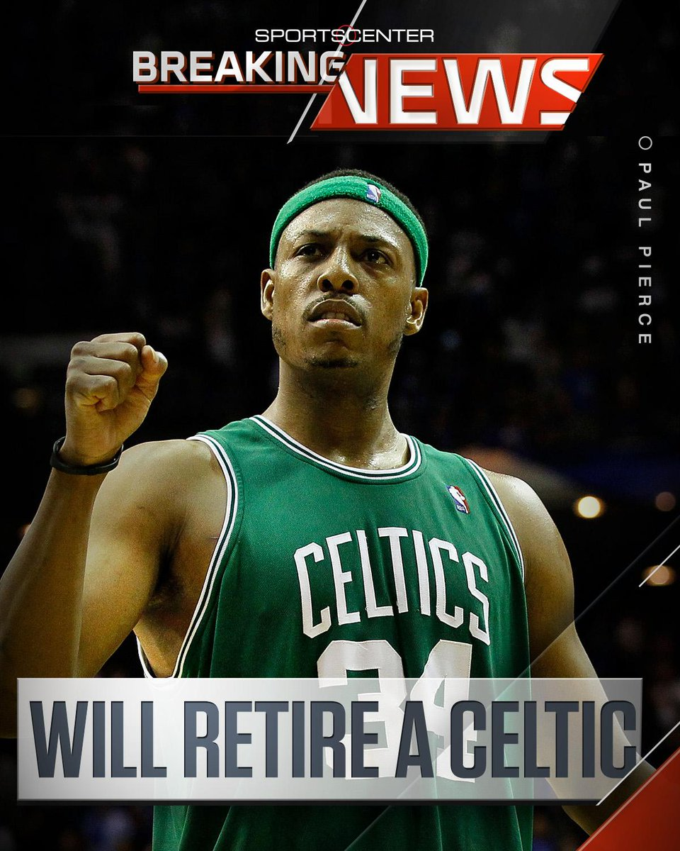 The Truth is going out a Celtic.  Paul Pierce plans to sign 1-day deal with BOS before retiring after this season.… https://t.co/sLnsm0KLla