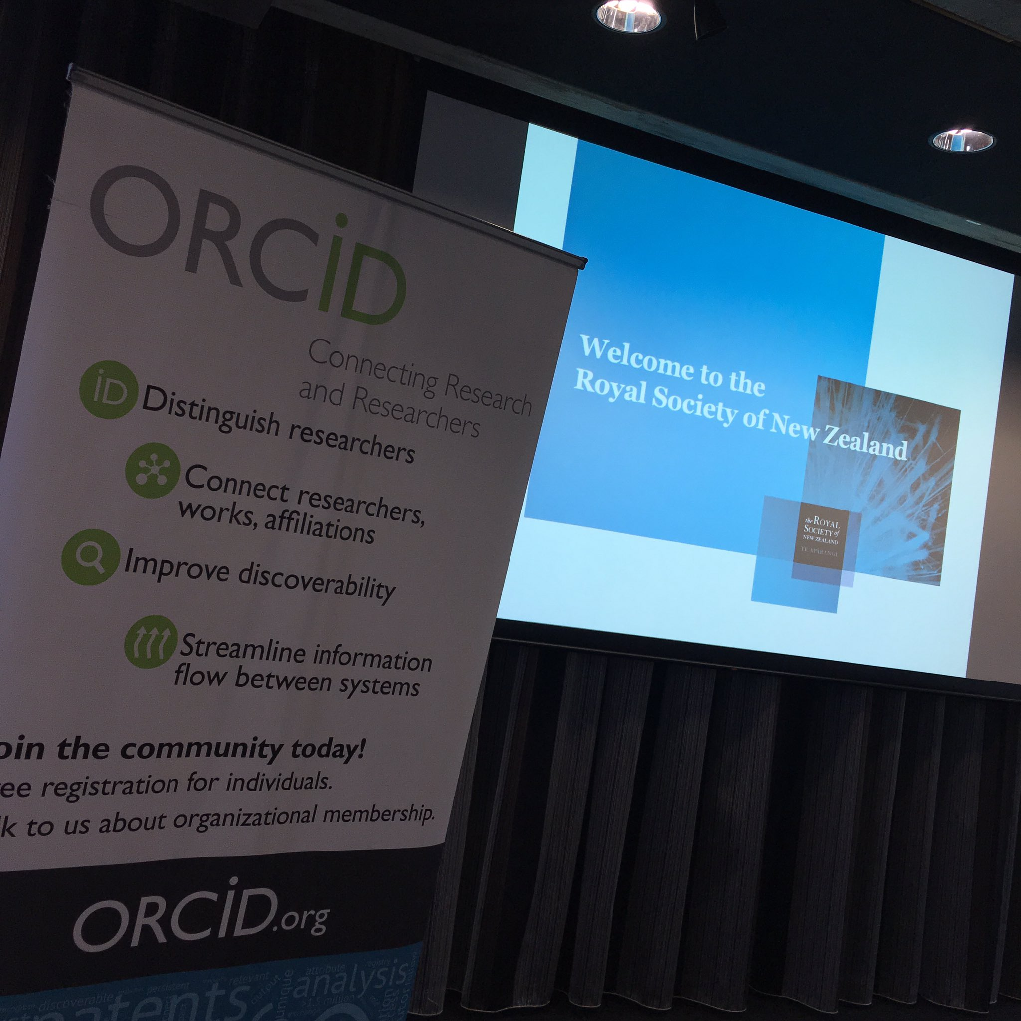 Excited to be here @royalsocietynz for @ORCID_Org NZ consortium launch! https://t.co/Opu1xhe00J