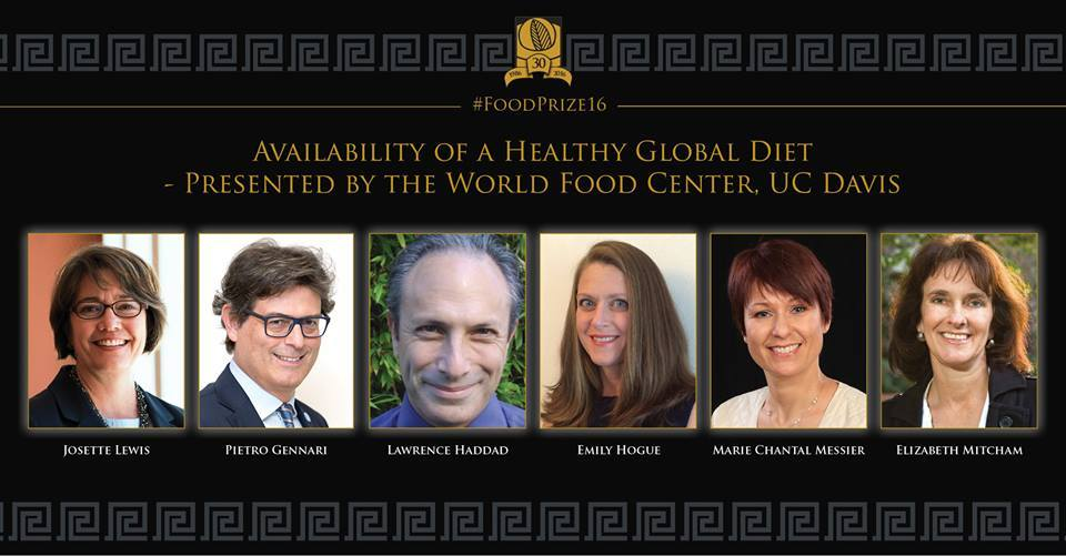 @UCDavisFood is presenting our next panel on the Availability of a Healthy Global Diet! #FoodPrize16 https://t.co/ZvK6LZsnFq