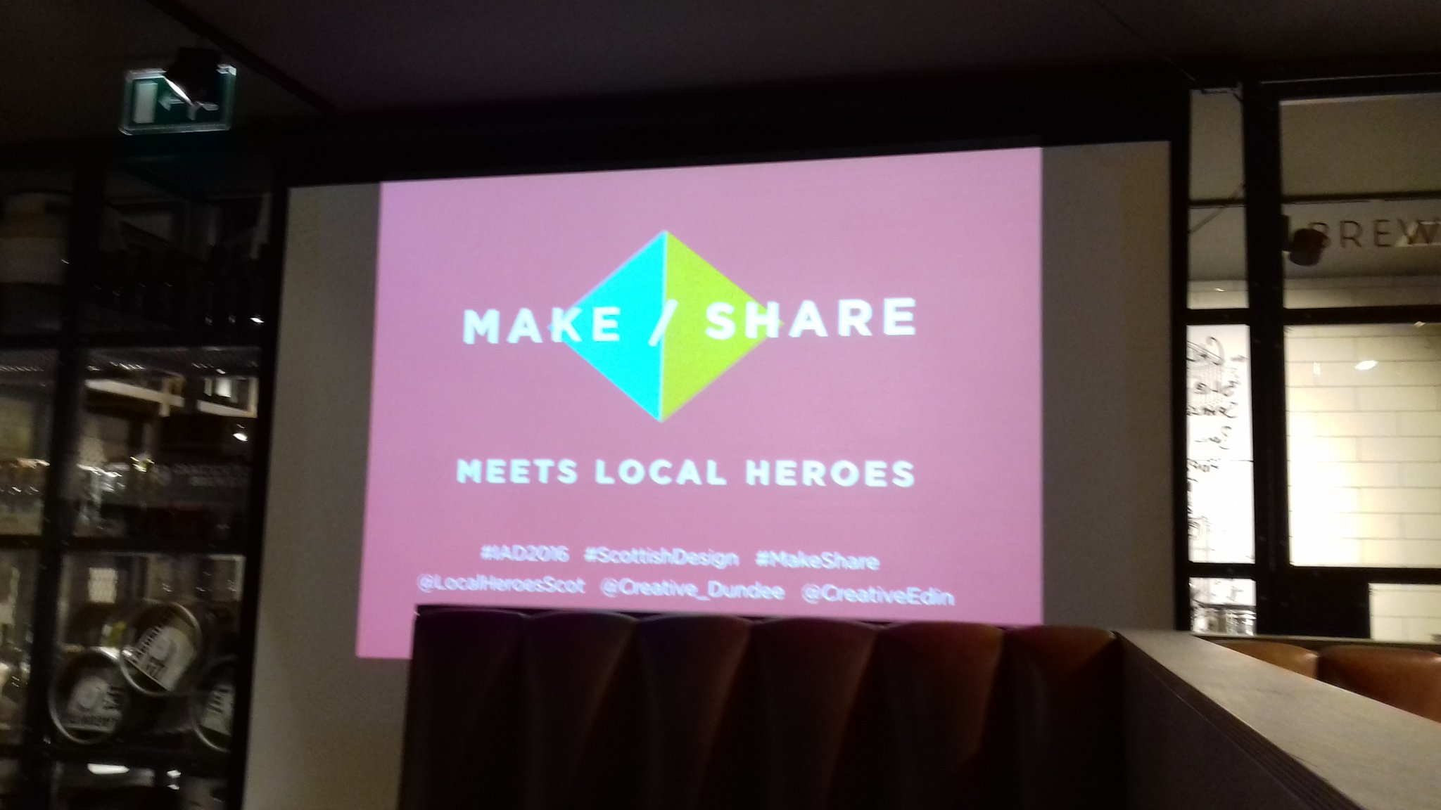 Make/Share was great tonght. Left with some knew designers to research. #makeshare #cbdsn @BeerKitchenDUN https://t.co/OKvWhia5x3