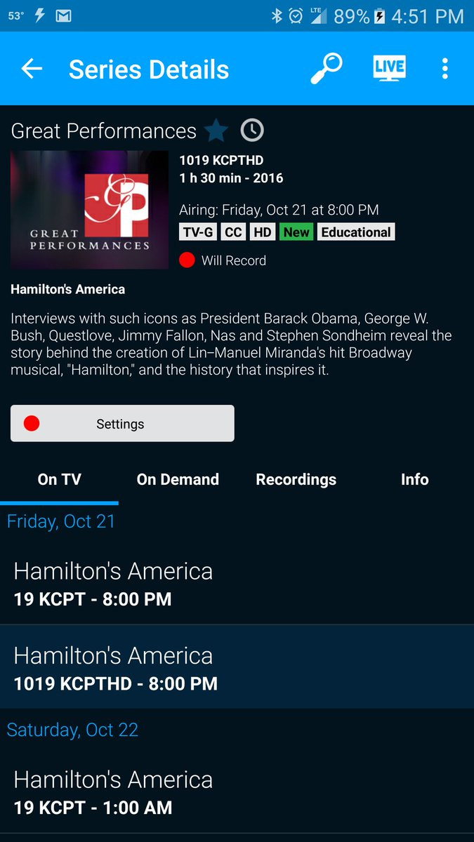 "Set my DVR to record PBS' Great Performances when it features ""Hamilton's America."" Yes! @Lin_Manuel https://t.co/4cFDAki3Jf"