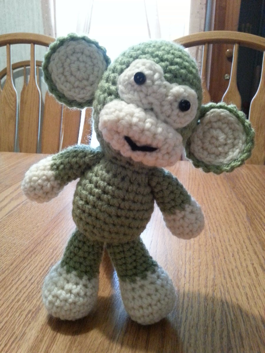 Ravelry: Little Bigfoot Monkey 2014 pattern by Sharon Ojala | 1200x900
