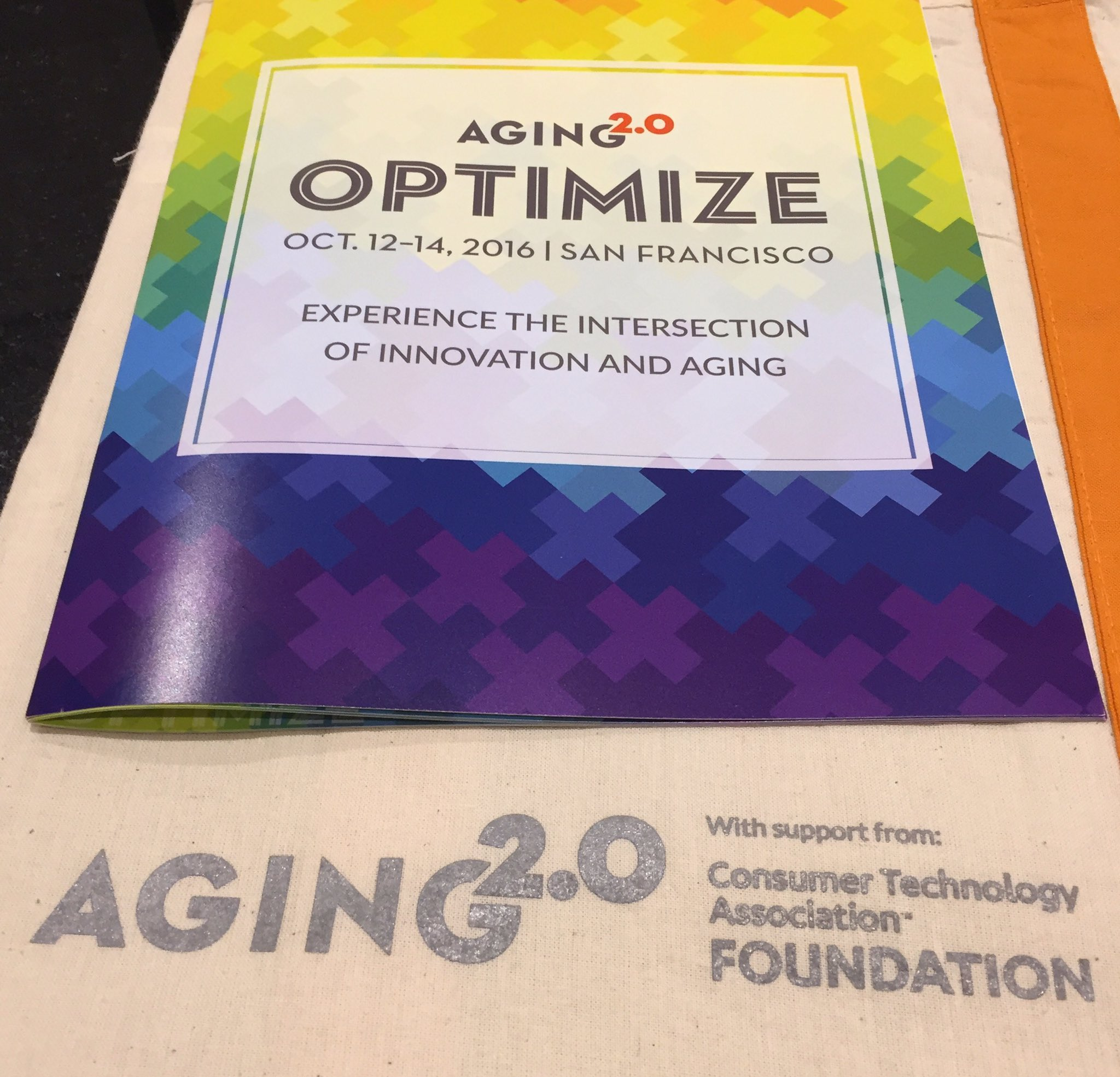 Pleased to be continuing our support of @Aging20 at #a2optimize https://t.co/RLgTYk3ufb