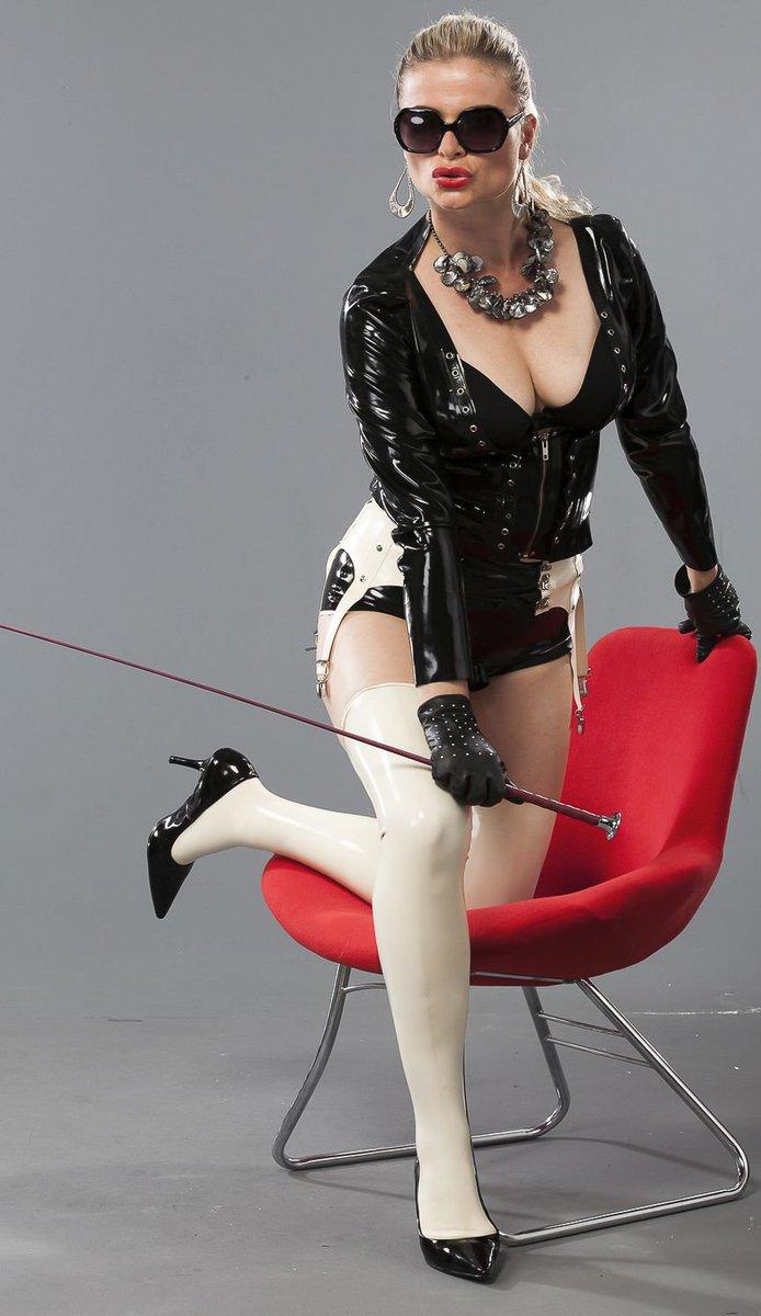 Femdom syonera von styx beyond hard trashing in sexy latex 7