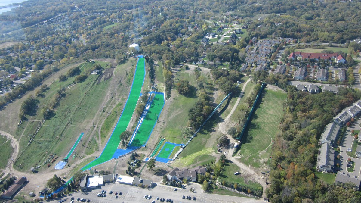 """buck hill on twitter: """"the @neveplast artificial snow slopes look"""