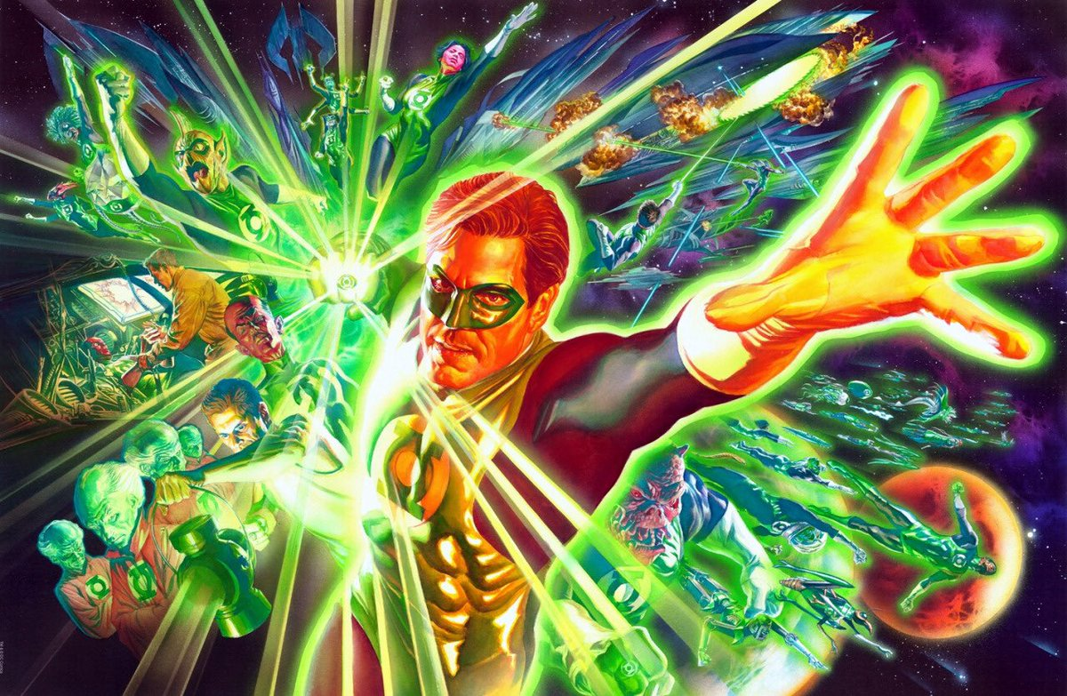 Cool Comic Art On Twitter The Green Lantern Corps By Alex Ross