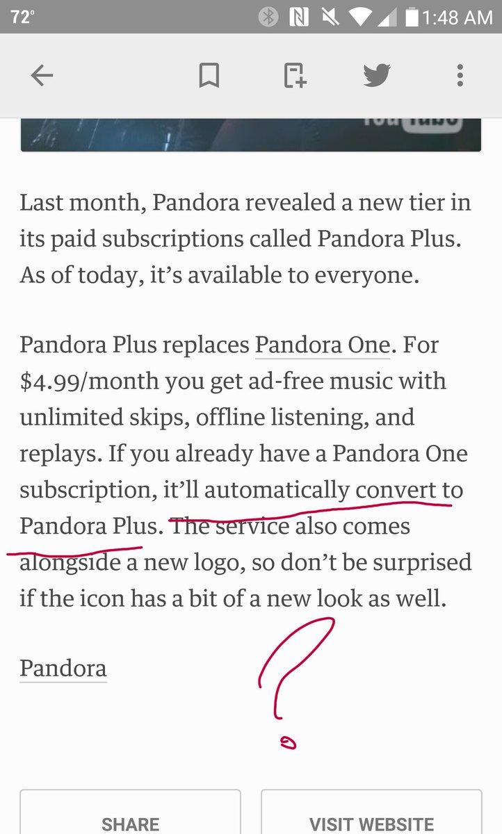 Pandora on Twitter: