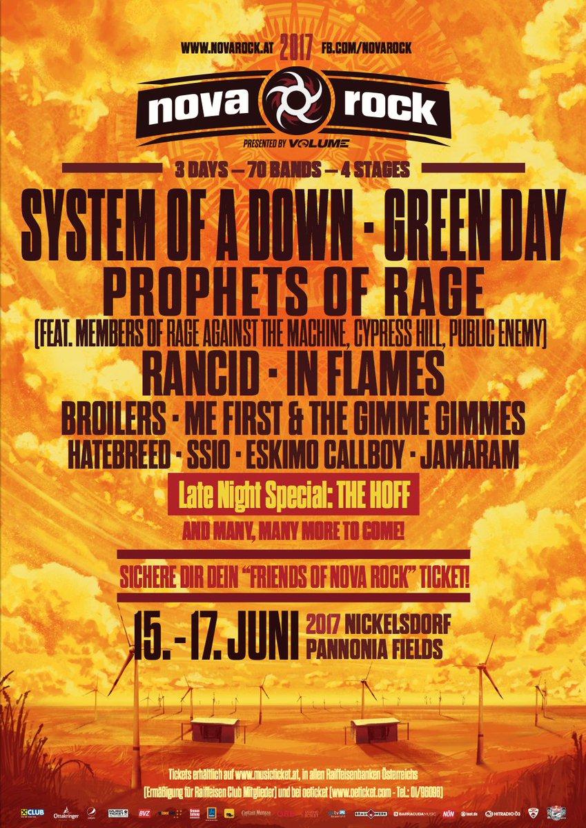Nova Rock Festival On Twitter La S Gentlemen Please Welcome Systemofadown Nr