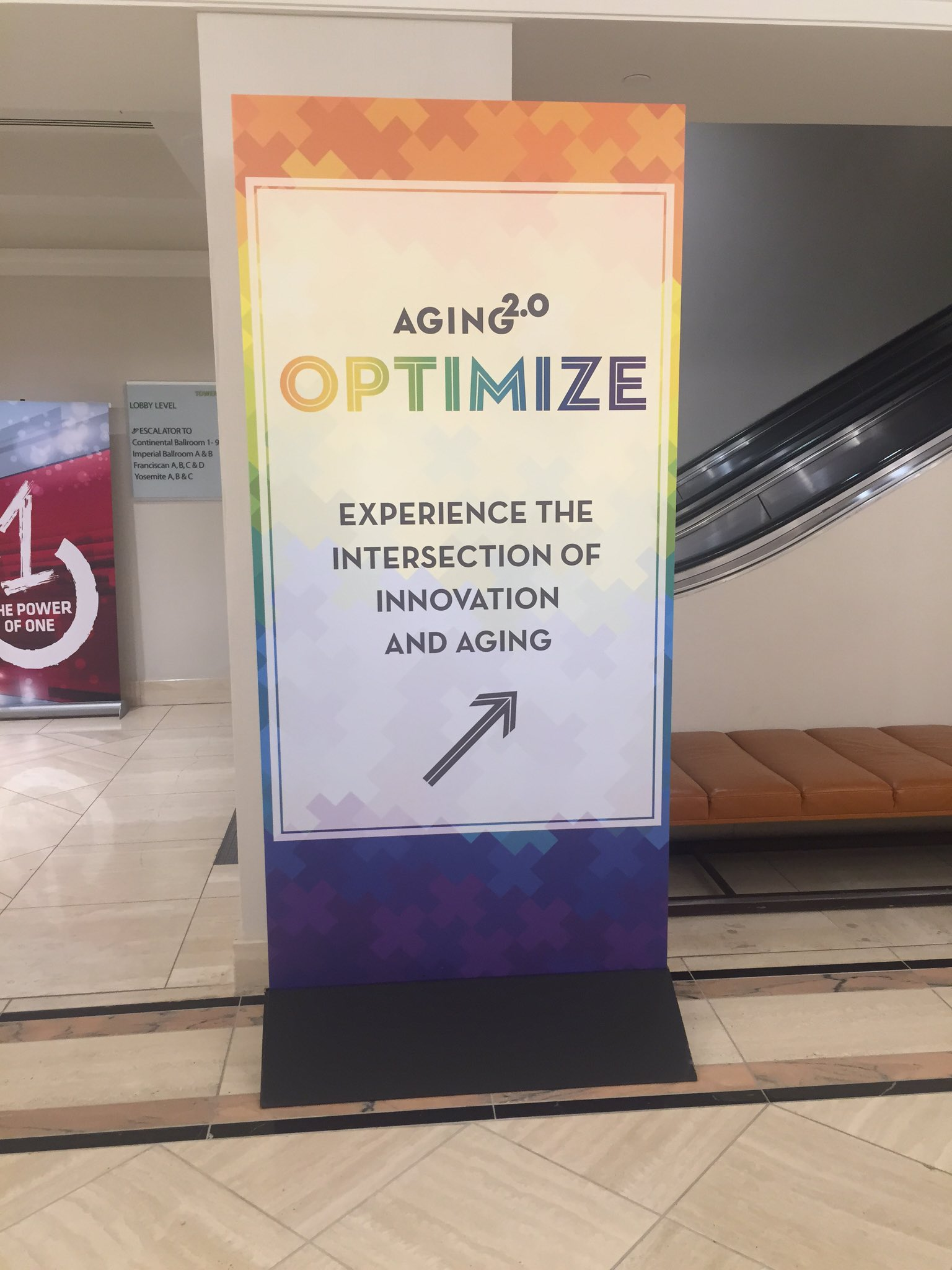 1 day complete! Excited for a full day of innovation & aging tomorrow! #A2OPTIMIZE @Aging20 https://t.co/y0Vg6VWV2g