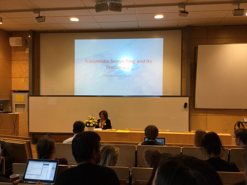 Marie-Laure Ryan opens #transmediations conference in Vaxjo https://t.co/xcXMVuLjOo