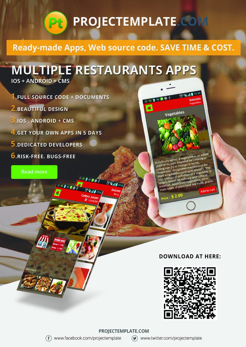 Projectemplate projectemplate twitter according to your requirements httpprojectemplateproductmultiple restaurants ordering mobile ios android apps solution source codepx forumfinder Choice Image