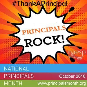 Principals are rockstars. #ThankAPrincipal   It's National Principals Month. https://t.co/3YgG5KrQ2P https://t.co/SRd4W5e29w