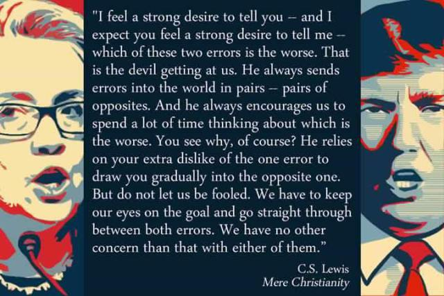 "C.S. Lewis on choosing the ""lesser of two evils."" https://t.co/7gaJItW7YG"