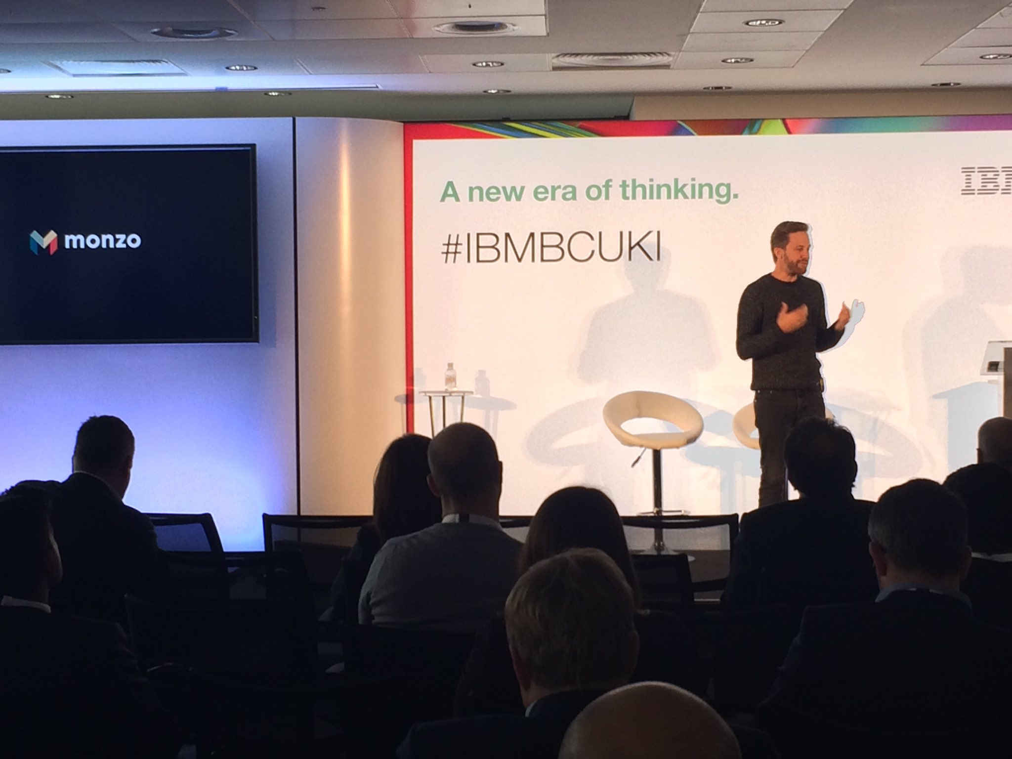 Tom Blomfield CEO at @monzo one of our newest banks shares how they are building a better bank at #IBMBCUKI  @t_blom https://t.co/PIPSSzCxAP