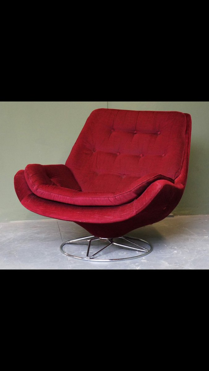 Brilliant Smt Antiques On Twitter 1960S Retro Swivel Egg Button Squirreltailoven Fun Painted Chair Ideas Images Squirreltailovenorg