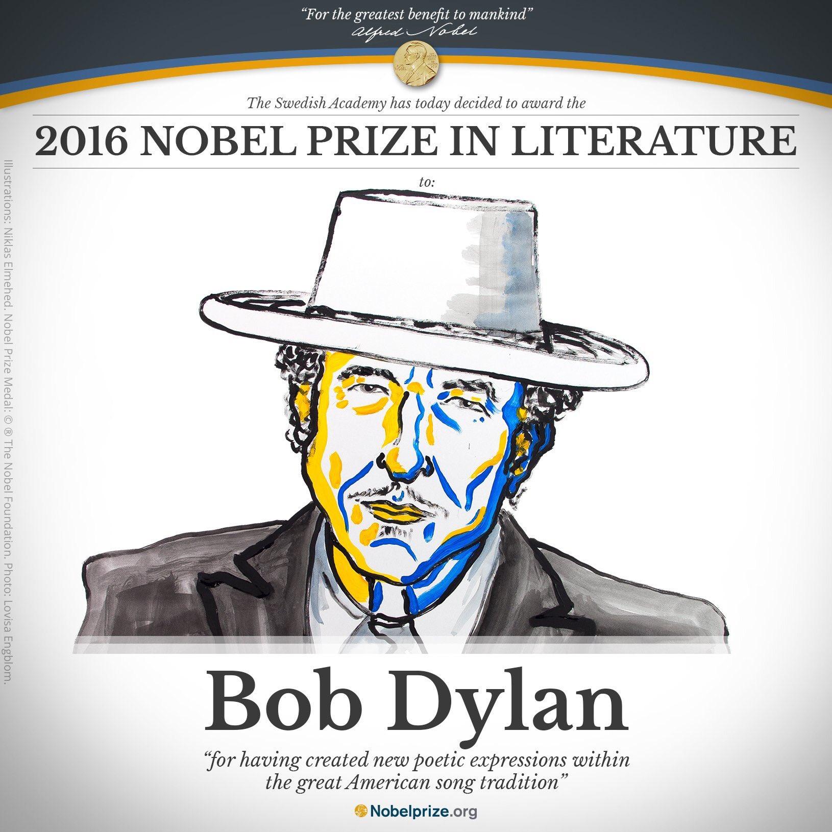 De nueva cuenta desplazan a Murakami, Bob Dylan es Nobel de Literatura