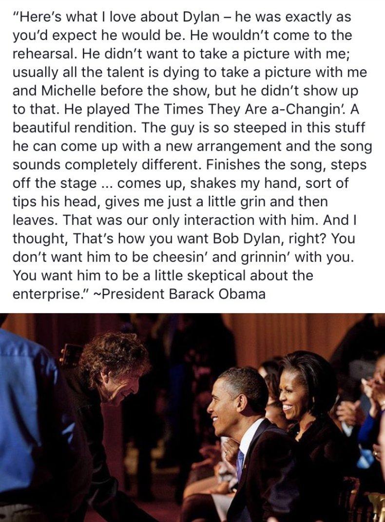 On Bob Dylan by Barack Obama https://t.co/o0lC4V5Bsv