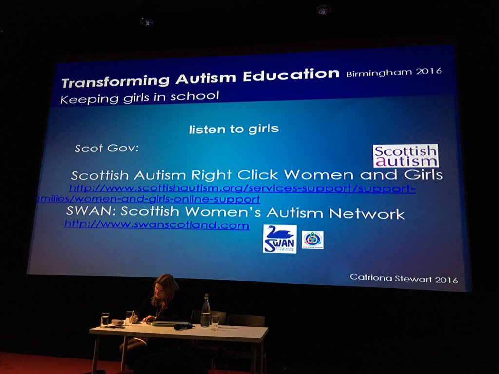 Resources for women and girls developed. Including peer support. #girlswithautism #transformingautismeducation https://t.co/hKmqgktjoa