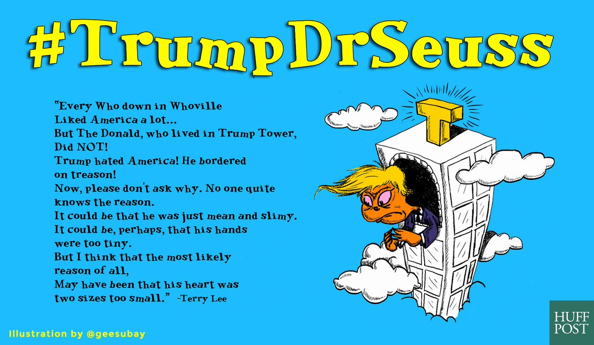 Please save your excuse Whether profuse or obtuse Let's all begin tweeting It's #TrumpDrSeuss  (RT'ing the best!) https://t.co/iPQA5kSD9U