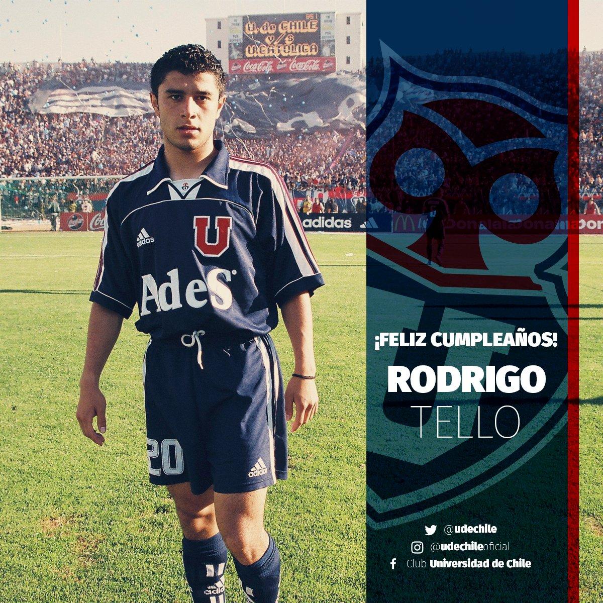 """Universidad de Chile på Twitter: """"🎂 ¡Feliz Cumpleaños Rodrigo Tello!  Comenzamos el día saludando a un bicampeón azul. ¡Felicidades!… """""""