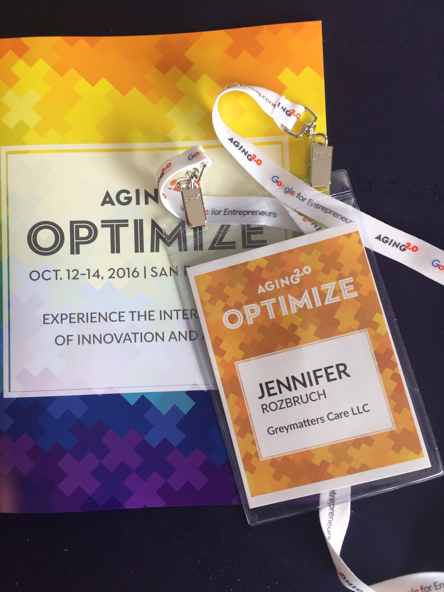 Here we go! Excited to finally arrive at the #A2OPTIMIZE conference in SF. @Aging20 https://t.co/JXaQHVWib0